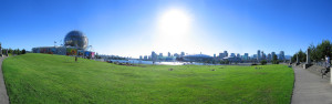 a panoromic photo of Vancouver