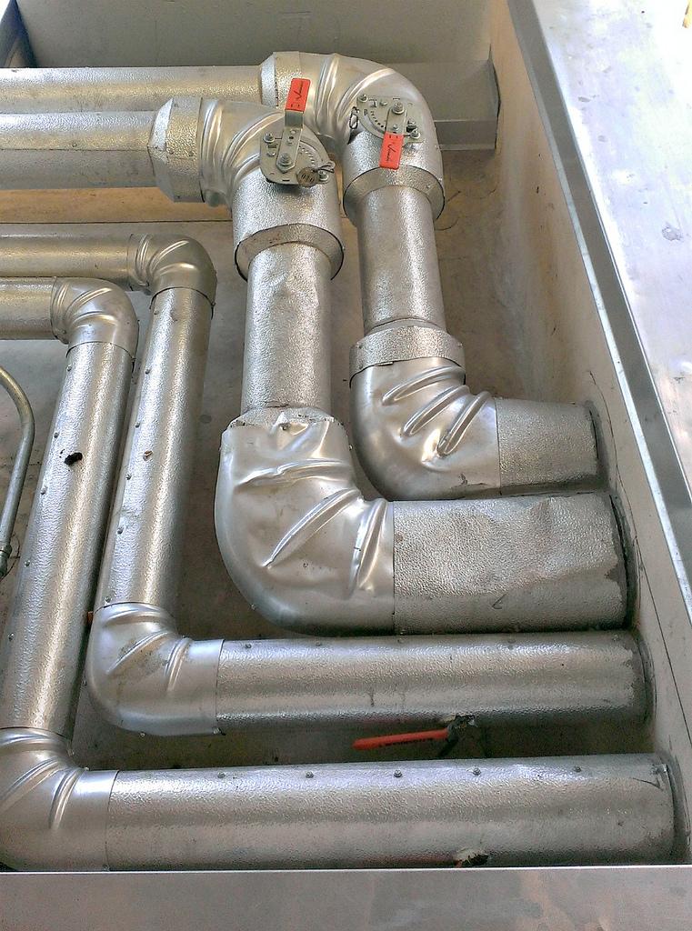 Ductwork with Damper Valves for HVAC