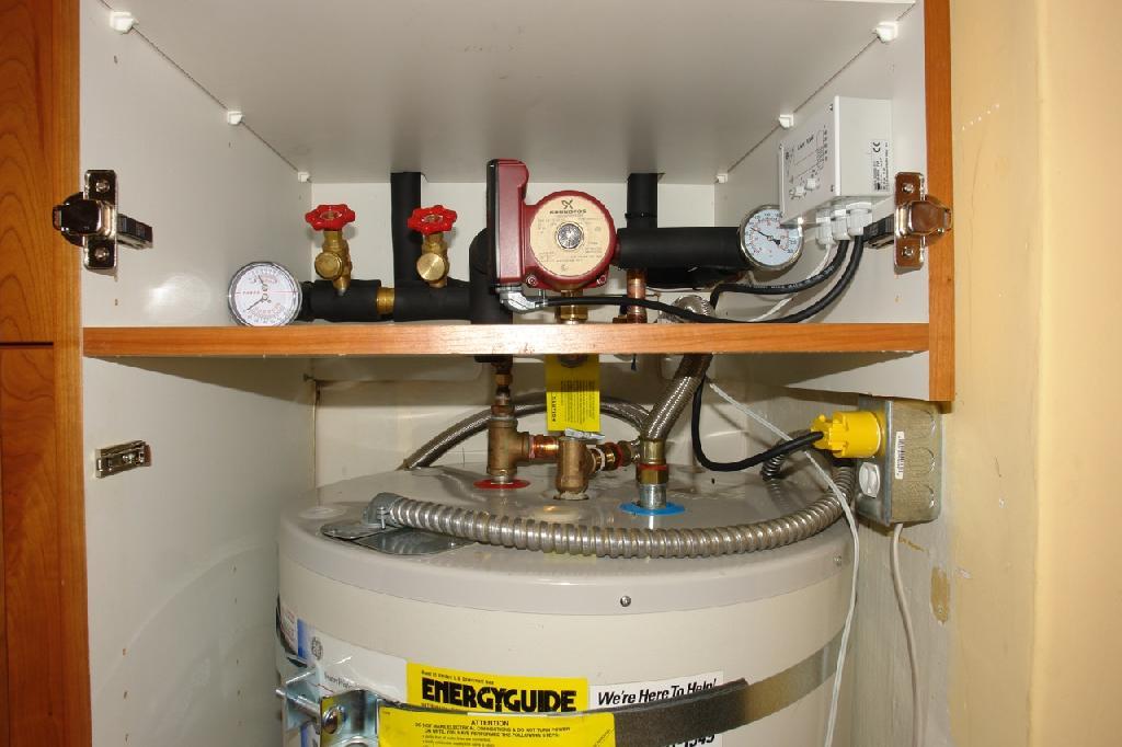 a solar water heater