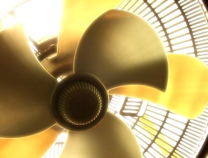 Fan can help circulate the cooler air.
