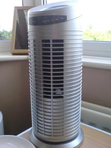 Electric fan for clean  air circulates through your home.