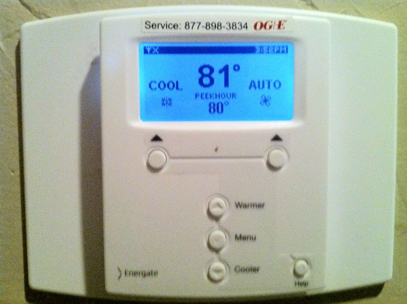 Programmable ac thermostat.