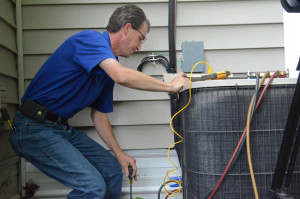 Inspect air conditioner and do a test run.