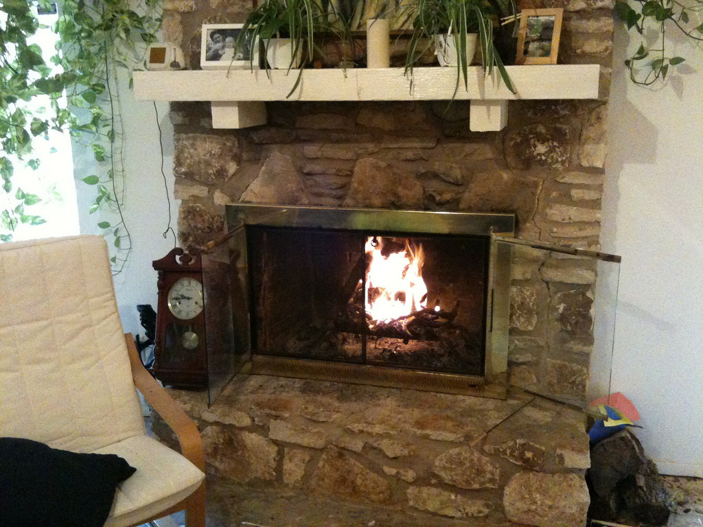 At least I'm three feet away from fireplace.